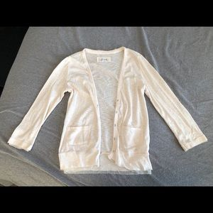 Aerie quarter sleeve button cardigan